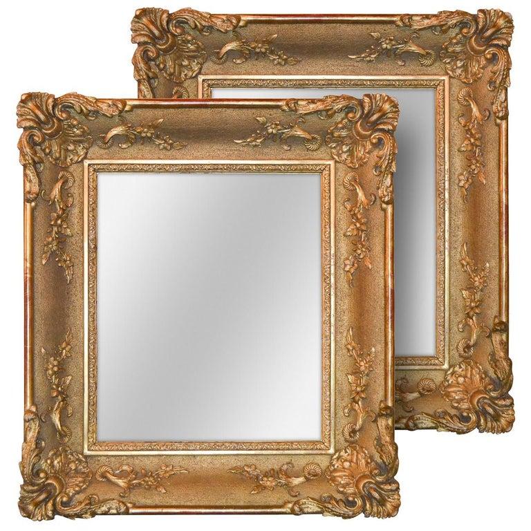 19th Century Pair of English Giltwood Mirrors