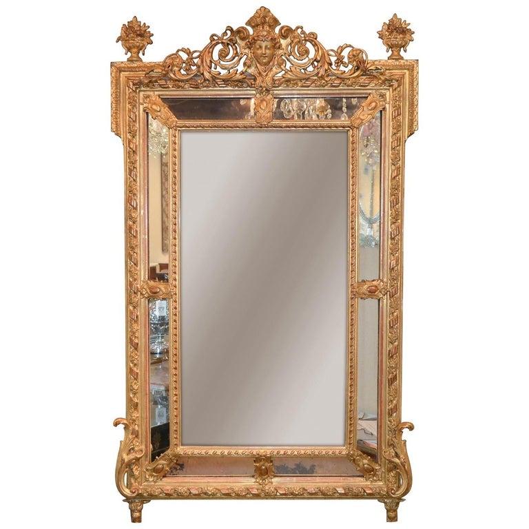 19th Century French Louis XVI Cushion Mirror