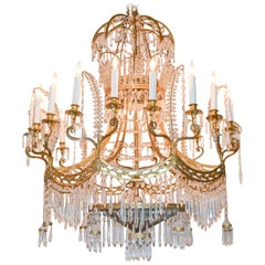 Period Russian Empire Bronze and Crystal Chandelier, circa 1830