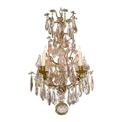 19th Century French Bronze and Crystal Chandelier