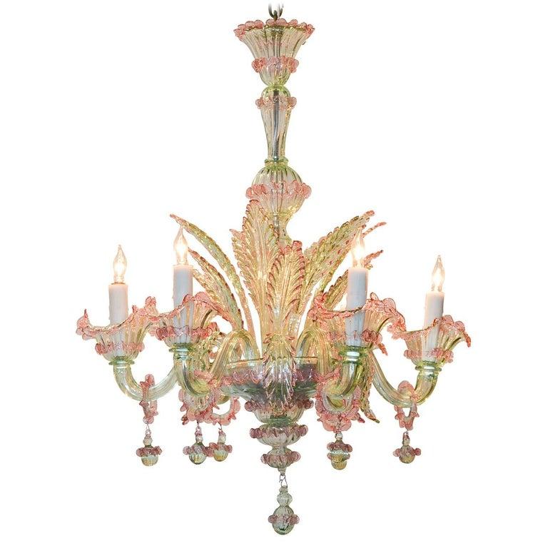 Italian murano multi color glass chandelier circa 1920 for sale at italian murano multi color glass chandelier circa 1920 for sale aloadofball Images