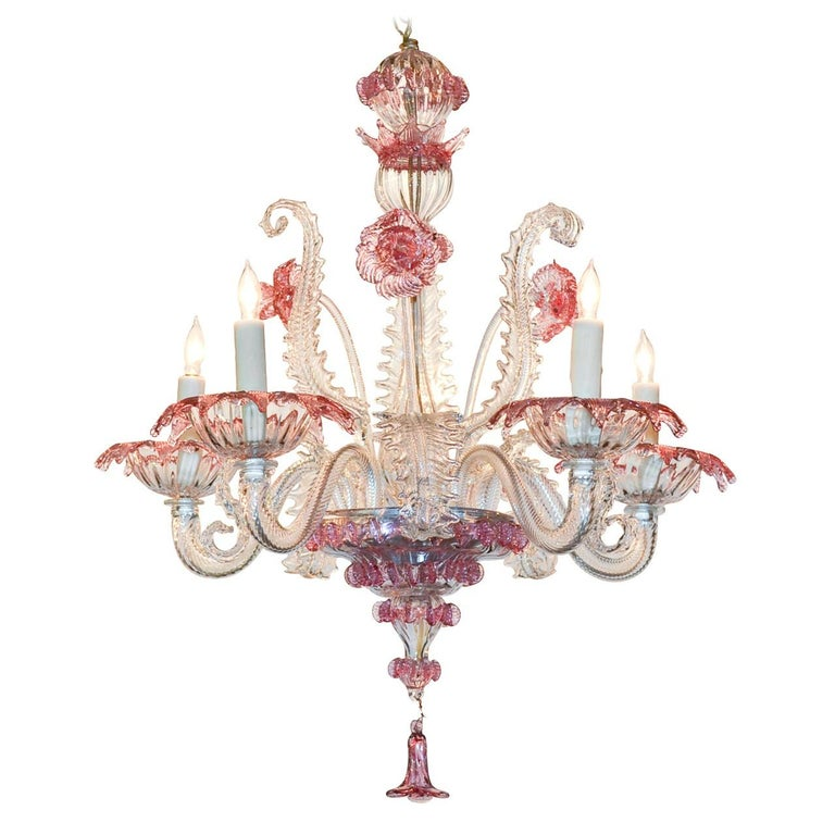 Venetian Glass Chandelier, circa 1920