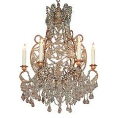 19th Century Italian Crystal Chandelier