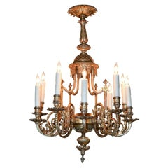 19th Century French Gilt Bronze Chandelier