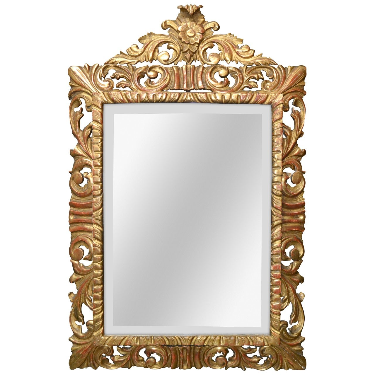 19th Century French Carved Giltwood Mirror