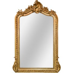 19th Century French Louis XVI Giltwood Mirror