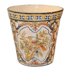 Signed Decorative French Faience Jardinière