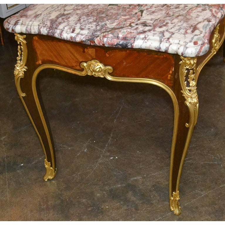 Important 19th Century French Desk by Ebeniste In Excellent Condition For Sale In Dallas, TX