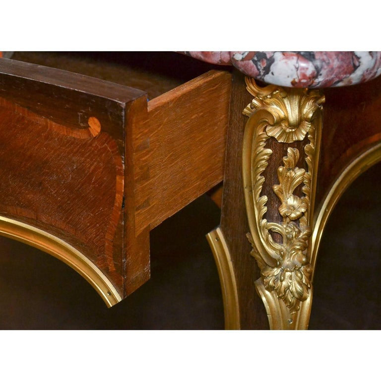 Bronze Important 19th Century French Desk by Ebeniste For Sale
