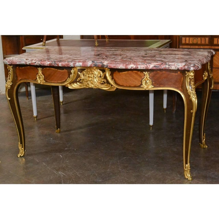Important 19th Century French Desk by Ebeniste For Sale 3