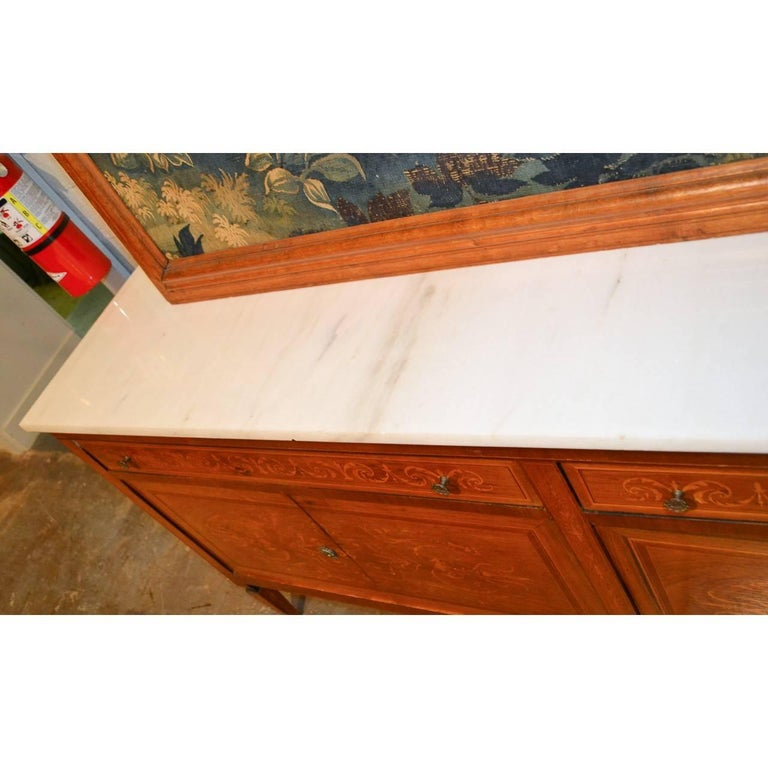 Italian Marquetry Inlaid Credenza or Sideboard For Sale 1