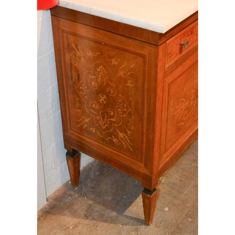 Italian Marquetry Inlaid Credenza or Sideboard For Sale 2