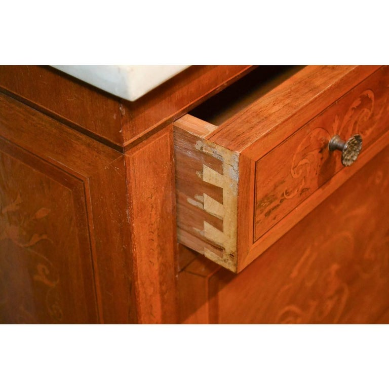 Italian Marquetry Inlaid Credenza or Sideboard For Sale 4