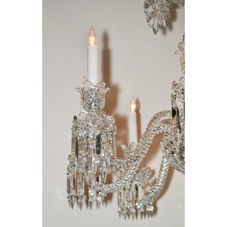 Signed Baccarat Cut Crystal Chandelier, circa 1900 In Excellent Condition For Sale In Dallas, TX