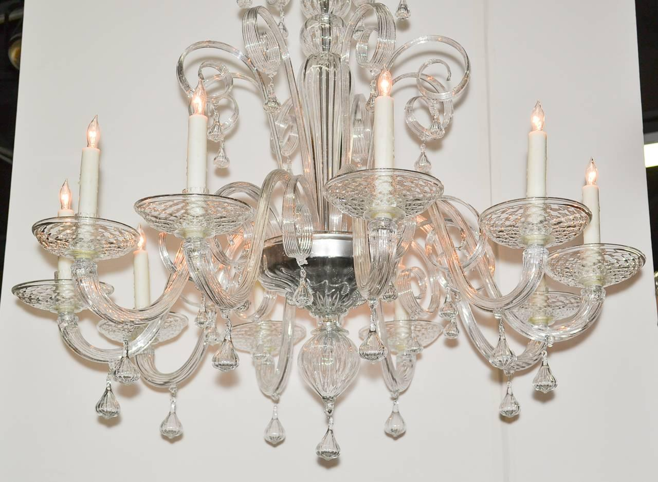 Italian blown glass chandelier for sale at 1stdibs Blown glass chandelier