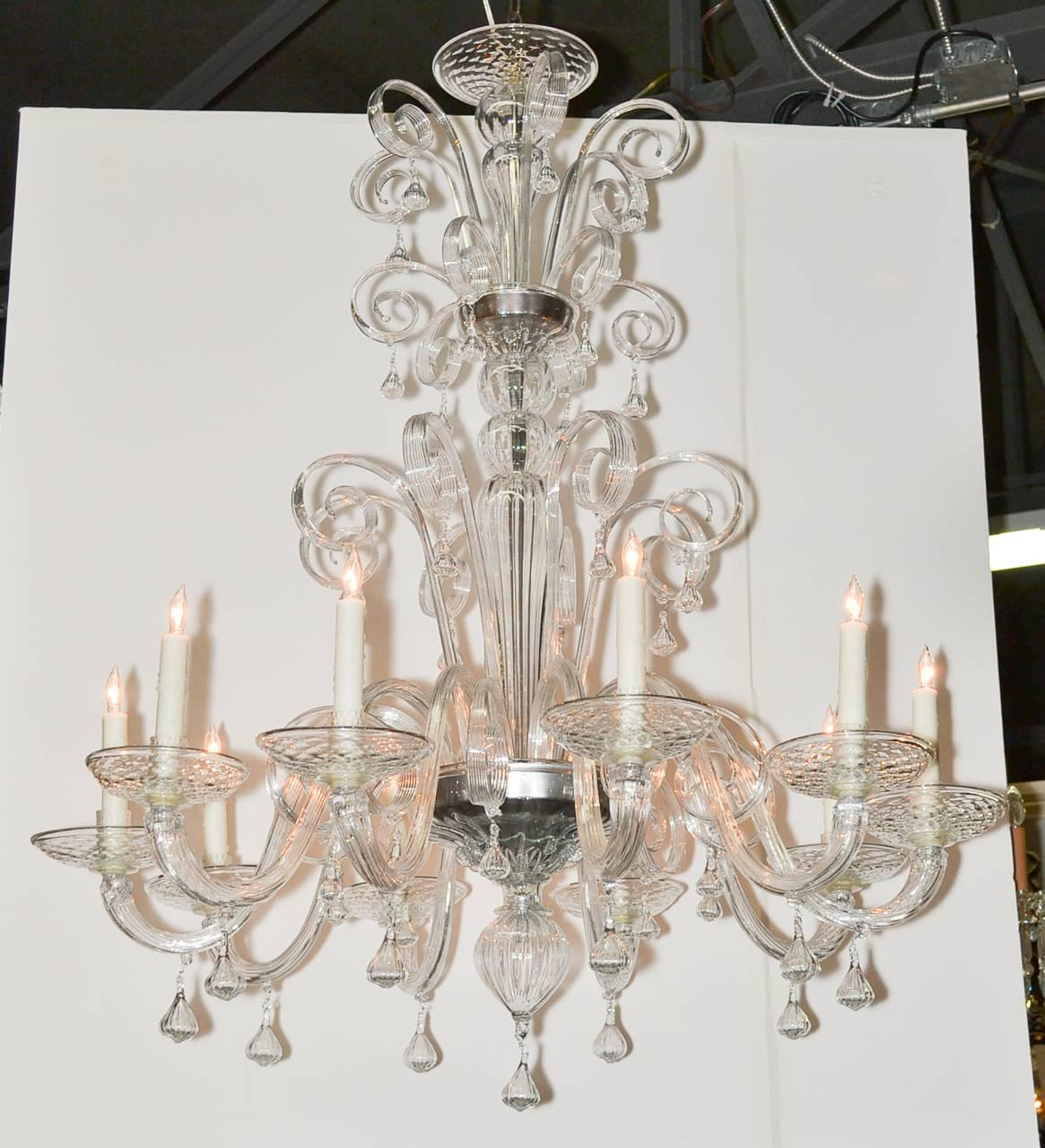 Italian Blown Glass Chandelier For Sale At 1stdibs
