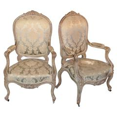 Great Pair of 19th Century Italian Armchairs