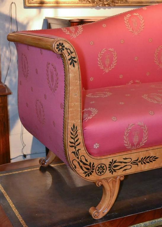 Rare 19th Century Austrian Biedermeier Settee In Good Condition For Sale In Dallas, TX