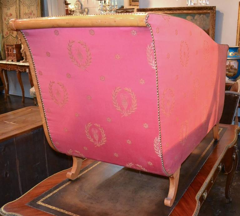 Rare 19th Century Austrian Biedermeier Settee For Sale 5