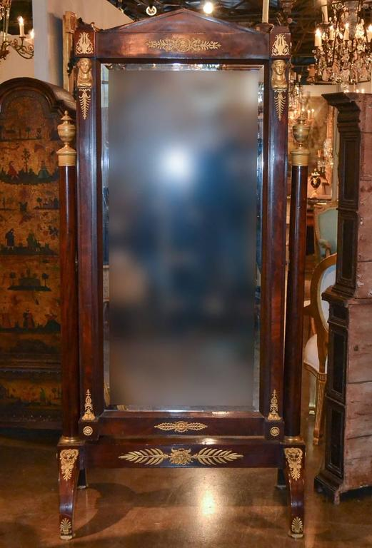 19th Century French Empire Cheval Mirror At 1stdibs