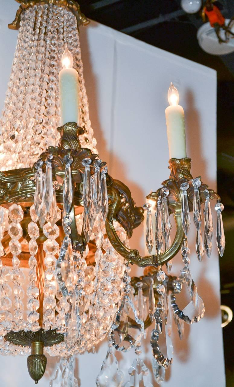 French Louis Xv Style Gilt Bronze Chandelier For Sale At