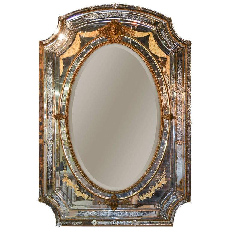 Magnificent 19th Century French Mirror