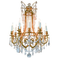 Fine 19th Century French Rock Crystal Chandelier