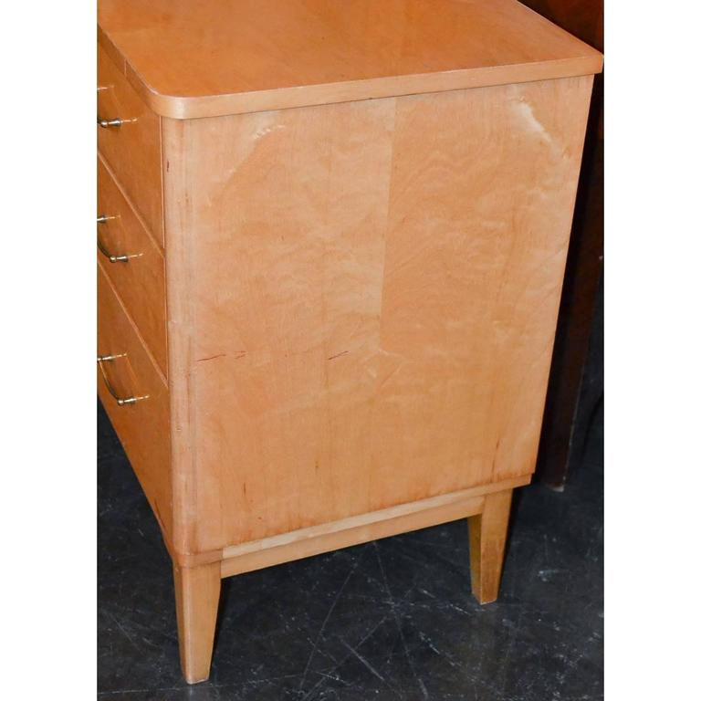 Mid-20th Century French Mid-Century Burled Maple Chest For Sale