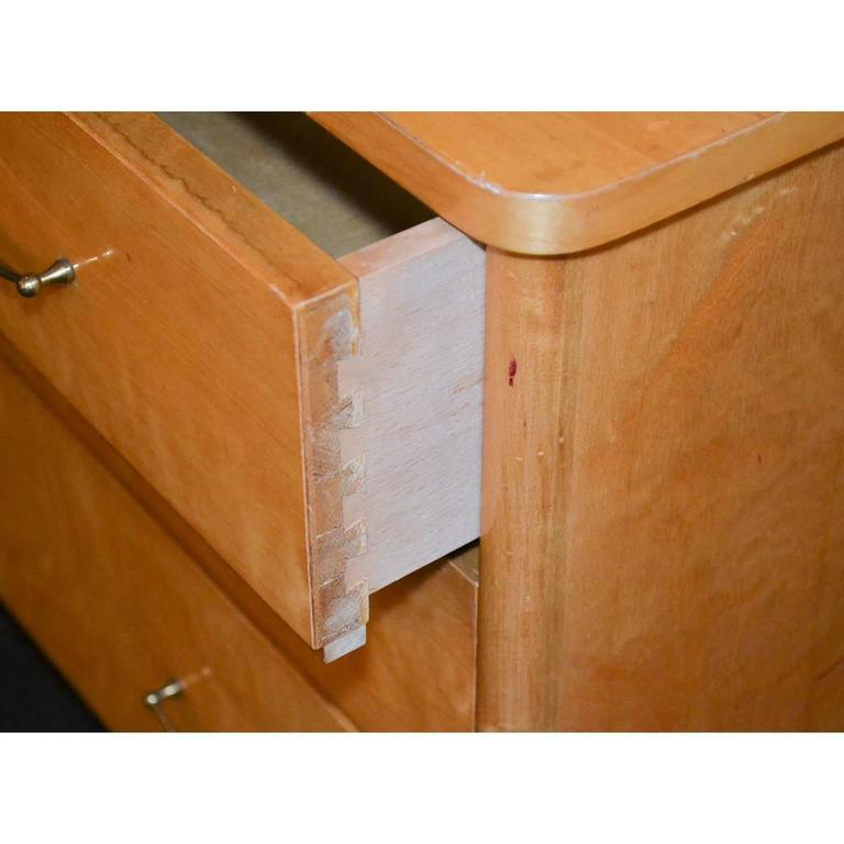 French Mid-Century Burled Maple Chest For Sale 2