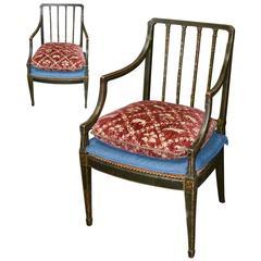 Set of Two English Hepplewhite Armchairs