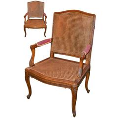 Pair of Antique French Caned Armchairs