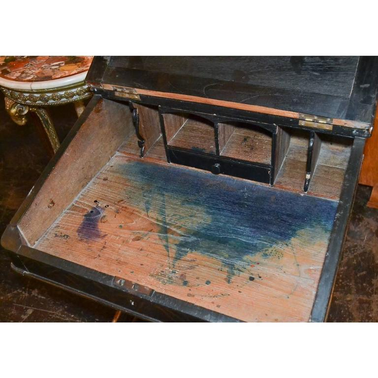 Nice 19th Century English Chinoiserie Davenport Desk For Sale 1
