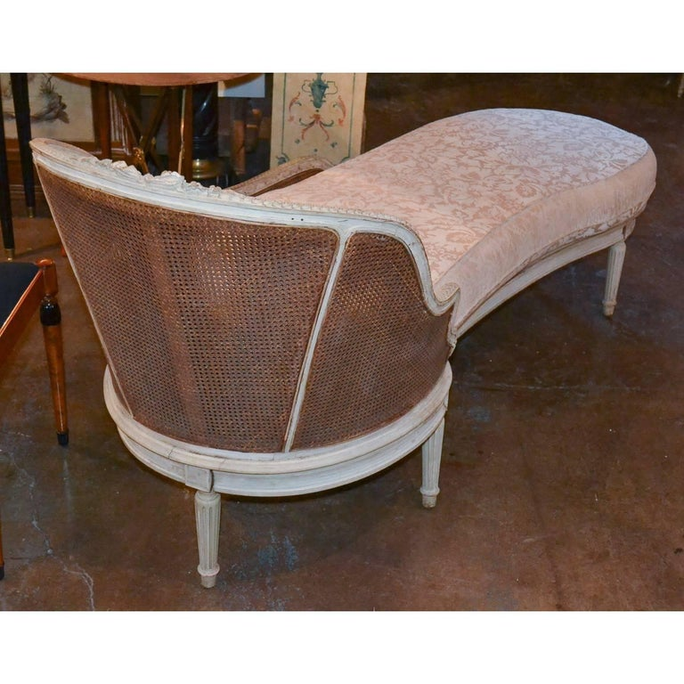 Antique french louis xvi style chaise lounge circa 1890 for Antique style chaise lounge