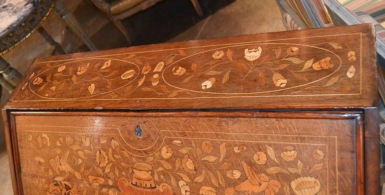 19th Century Continental Oak Bureau For Sale 2