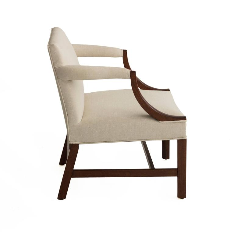 Mahogany Library Armchairs in the Style of Edward Wormley 4