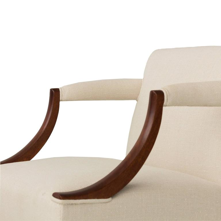 Mahogany Library Armchairs in the Style of Edward Wormley 5