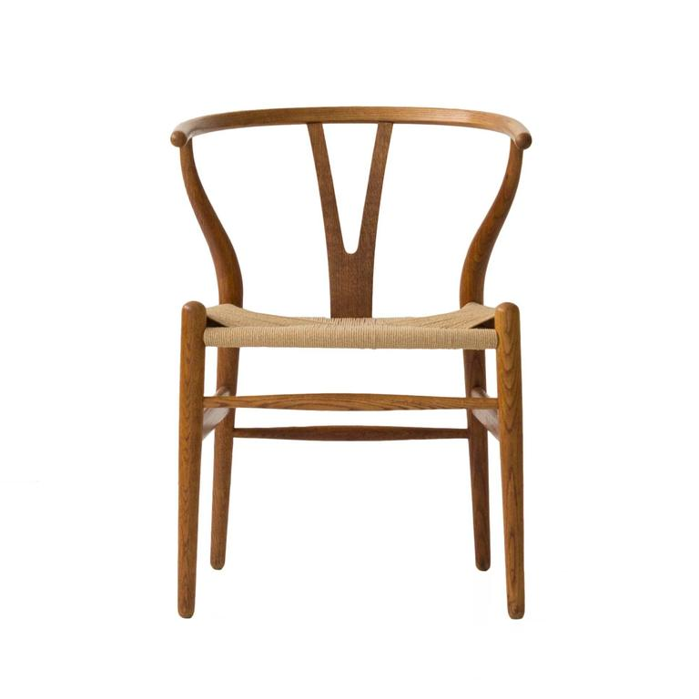 Early Production Hans Wegner Wishbone Chairs Set Of Eight For Sale At 1stdibs
