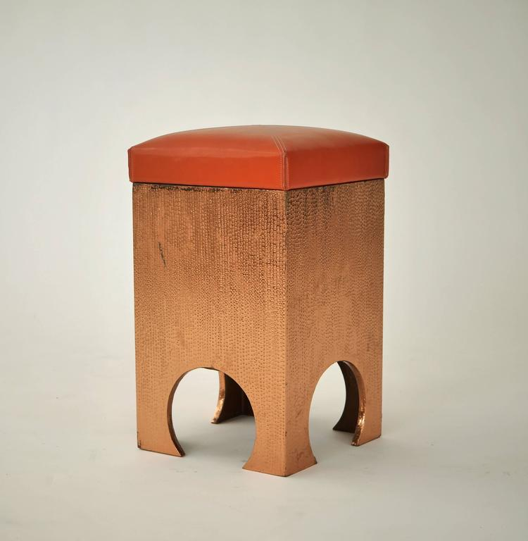 Francisco Artigas Copper Clad Stool For Sale At 1stdibs