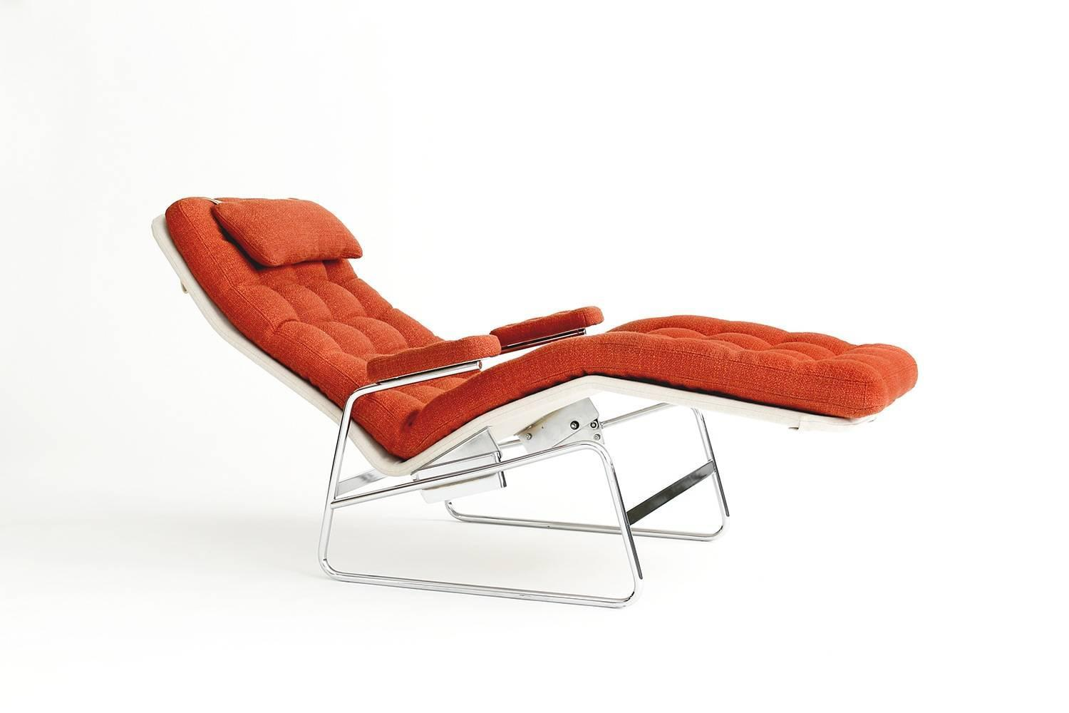 Sam Larsson Fenix Reclining Lounge Chair By Dux For Sale