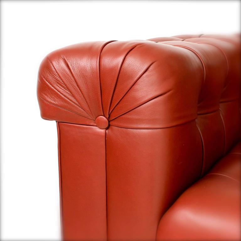 Leather Custom Chesterfield Sofa For Sale