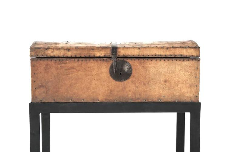 Mexican Spanish Coloniel Parchment Chest For Sale
