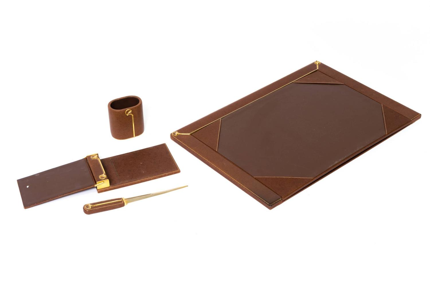 Gucci Leather Desk Set at 1stdibs