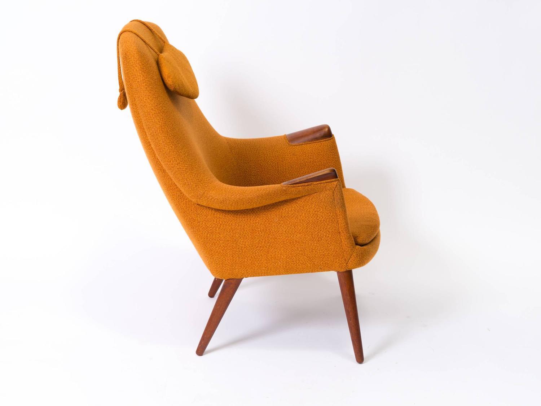 Gerhard Berg For L K Hjelle Stol Scandanavian Teak Chair And Ottoman For Sal