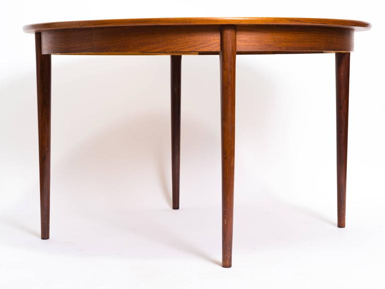 Gustav Bahus Rosewood Dining Table With Two 19.5 Inch Leaves. Length Of Table  With Leaves