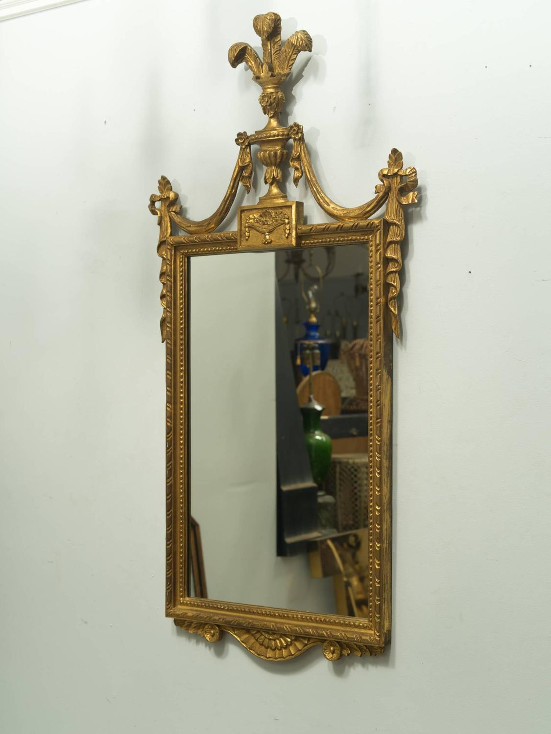 Gilt Italian Regency Style Plume Mirror For Sale At 1stdibs
