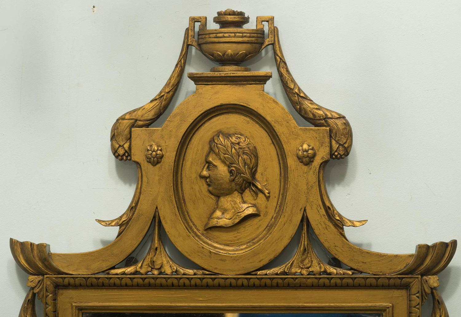 Italian Wood Medallion Mirror For Sale At 1stdibs