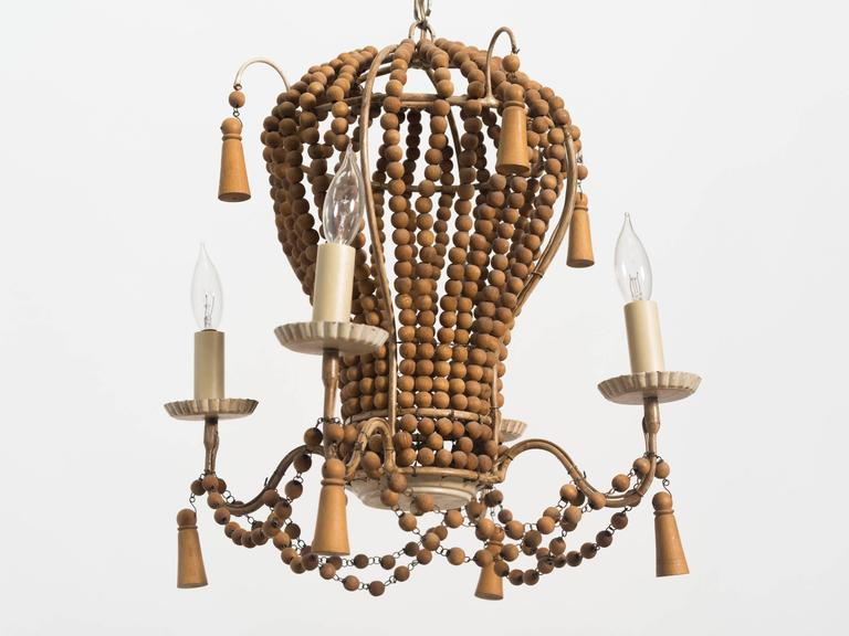 Wood Beaded Light Fixture: Hot Air Balloon Fixture For Sale At 1stdibs