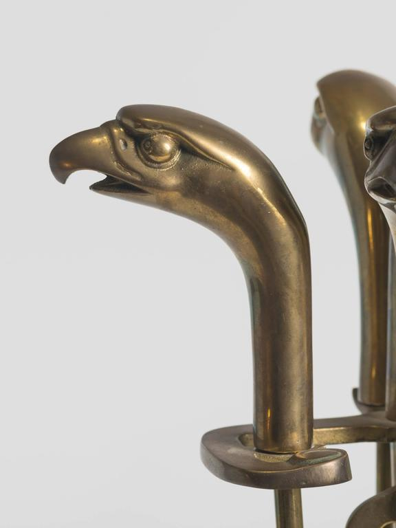 fireplace tool sets product brass eagle head fireplace tool set at 1stdibs