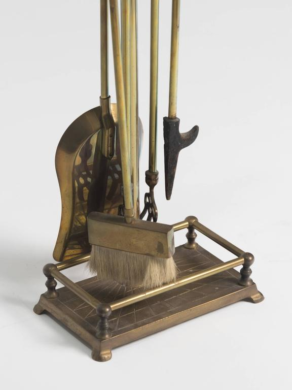 Brass Eagle Head Fireplace Tool Set At 1stdibs