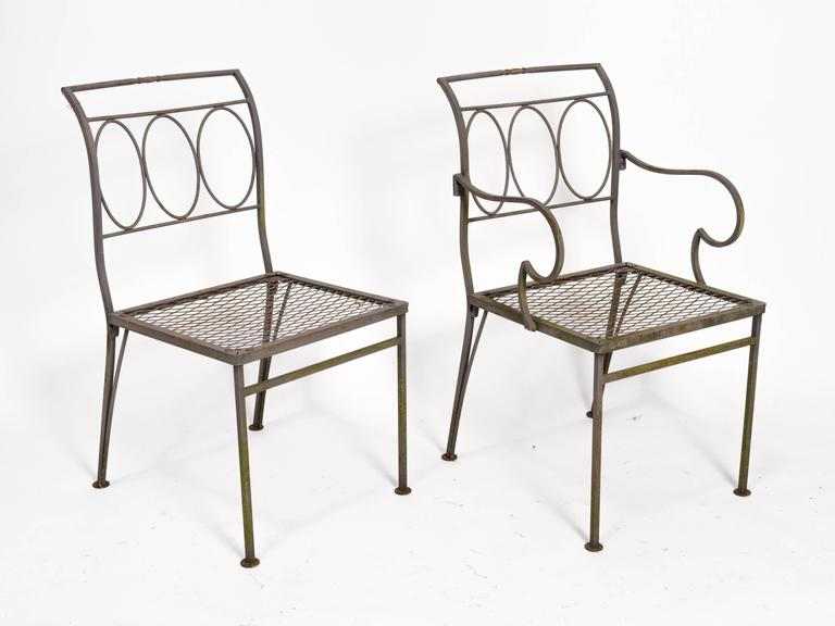 Classical Iron Outdoor Table And Chairs At 1stdibs